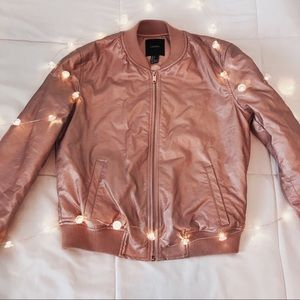 Rose Gold Puffer Jacket